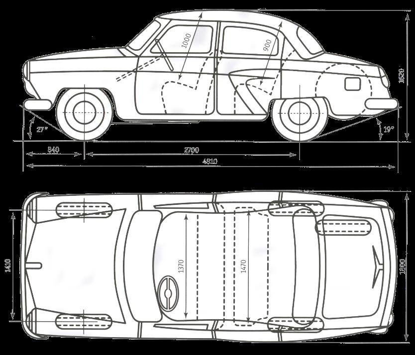 """Схема автомобиля ГАЗ-21Р """""""