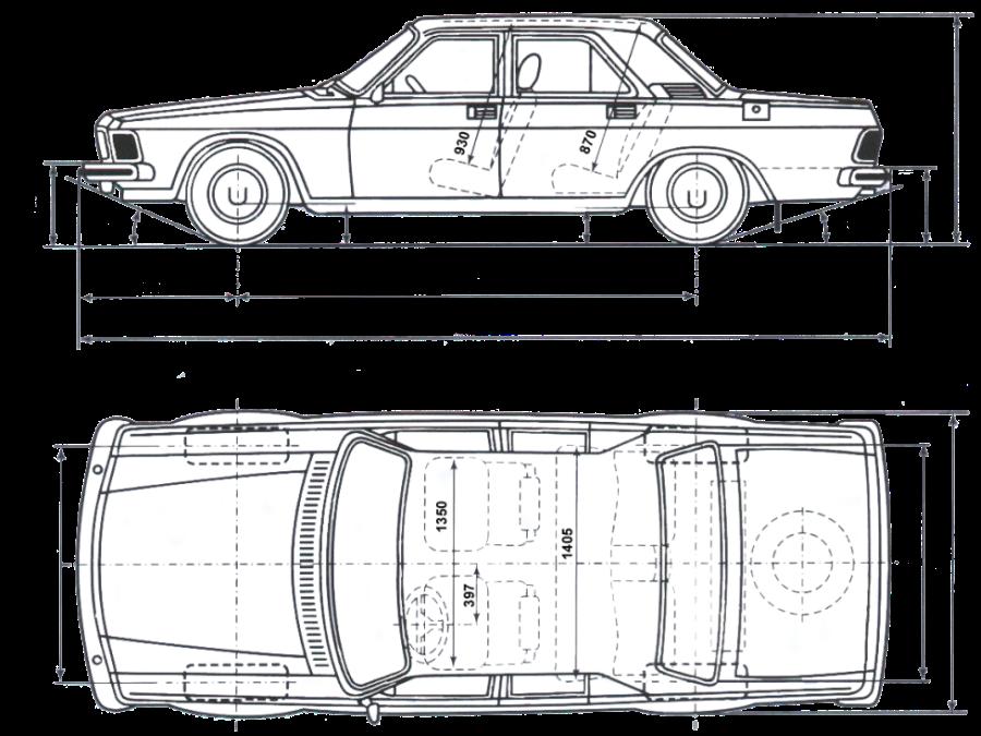 "Схема автомобиля ГАЗ-3102 """