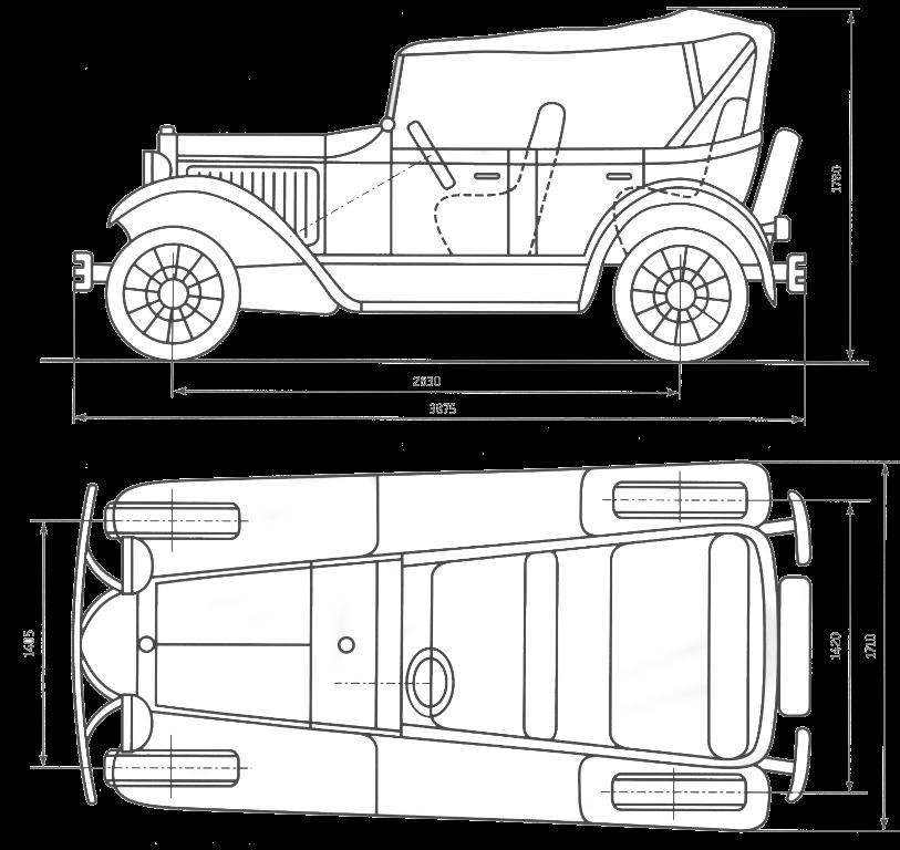 Схема автомобиля ГАЗ-А